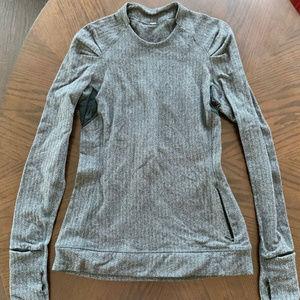 Lululemon Black & Gray Herringbone Long Sleeve